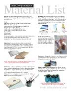 Material List 2013